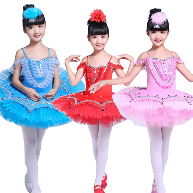 424fa47cb134 Girls Gymnastic Leotard Ballet Dancing Dress Swan Lake Costume ...