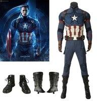 Мстители: Endgame Steven Rogers Капитан Америка Косплей костюм Мстители Новый Капитан Америка Косплей Костюм на заказ