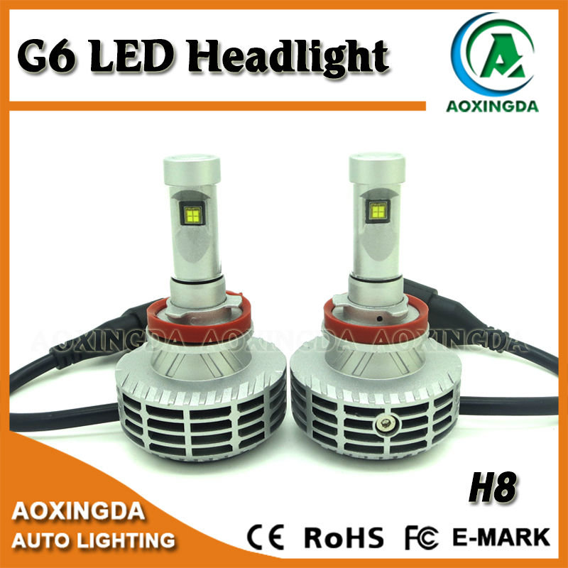44w 6000lm New Gen G6 Led Headlight Conversion Kit H8 H9 H10 H11 H7 9005 9006 Car Replacement
