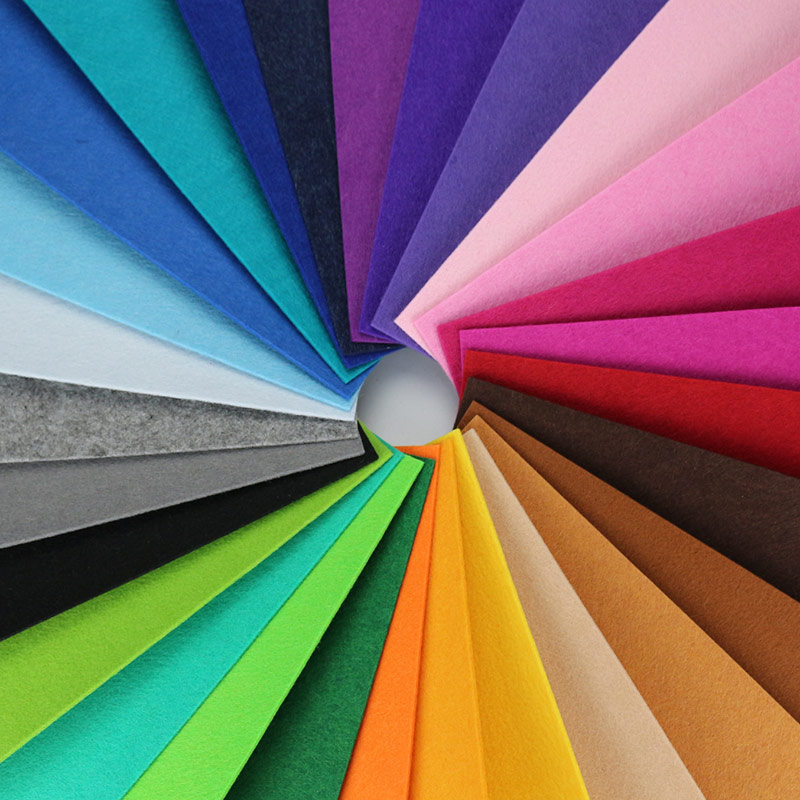 2MM Thick Felt DIY Fabric 28 Colors High Quality Non woven Cloth Home Wall Decor and Handwork Material Needlework SuppliesFabric   -