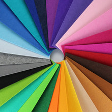 2MM Thick Felt DIY Fabric 28 Colors High Quality Non woven Cloth Home Wall Decor and Handwork Material Needlework Supplies
