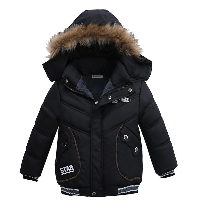 где купить Baby Boys Coat 2018 Winter Jacket For Boys Fashion Hoodies Children Coat Boys clothes Jackets Warm Outerwear for kids clothes по лучшей цене