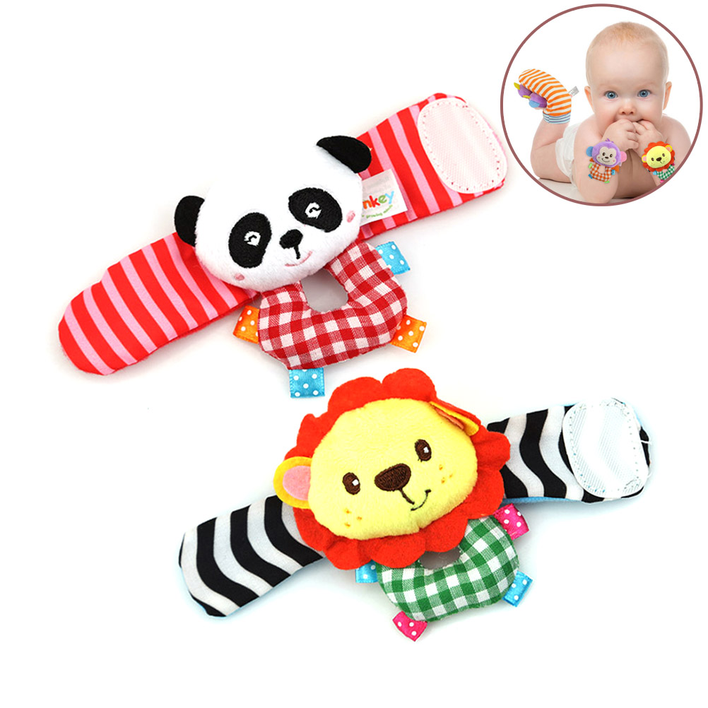 Infant Socks Rattle Toys Baby Animal Socks With Rattle Bug Wrist Strap And Foot Socks For 0~24 Months