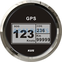 KUS Boat GPS Speedometer Electric Marine Truck Car RV Digital LCD Speed Gauge SOG COG Knots Compass With GPS Antenna 85mm