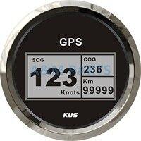 KUS gps для лодки скоростной метр Электрический морской Грузовик Автомобиль RV цифровой ЖК датчик скорости SOG COG узлы компас с gps антенной 85 мм