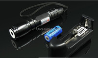 Strong power Military NEW Red laser pointer 2000m 2w 650nm High power Focusable can Burning Match,Burn cigarettes+Changer+Box