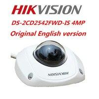 Hikvision Original English CCTV Camera DS 2CD2542FWD IS 4MP WDR Mini Dome IP Camera IP67 POE