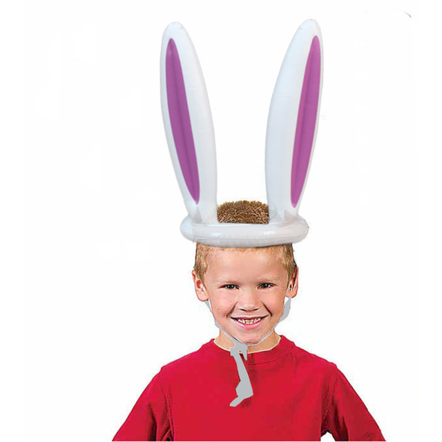 Inflatable Easter Bunny Ears Rabbit Hat Ring Toss Party Game Ferrule Tools Birthday Party Decoration Children Outdoor Game Toys