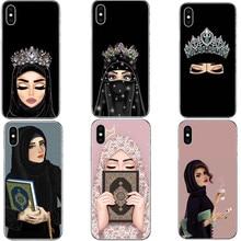 Donna In Hijab Viso Cassa Del Telefono Dura del PC Per il iphone X 10  Principessa Musulmano Islamico Gril Della Copertura Per il. 6988df41bf24