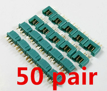 50 pairs MPX Connectors plug 24K Goldplated pin 40Amp RC aeromodelling field Accessories Free Shipping