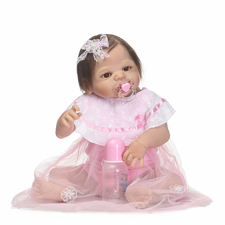 55cm Full Silicone Reborn Doll Toy Like Real Baby 22inch Newborn Princess Girl Babies Toddler Doll Bathe Toy Birthday Xmas Gift npkcollection 55cm full silicone body reborn baby doll toy like real 22inch newborn girl princess babies doll bathe toy kid gift