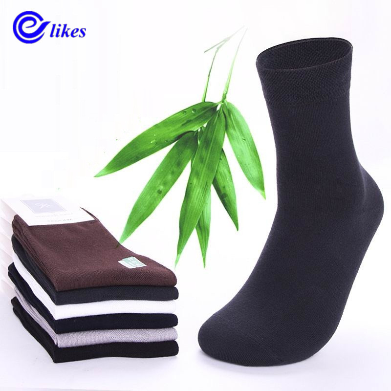 10pair Mens bamboo fiber cotton Socks for spring autumn male casual business in tube Socks man male high quality health sox