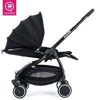 Aulon Light Umbrella Vehicle Four Wheel Shock Resistant Folding Baby Carriage for dolls