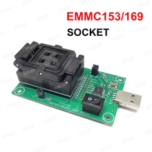 EMMC153/169 Test Socket USB Reader IC size 11.5 x13 mm NAND Flash Test for Data Recovery
