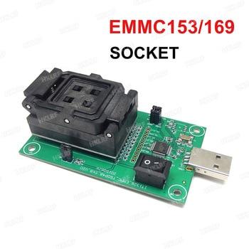 EMMC153/169 Test Soketi USB Okuyucu IC boyutu 11.5x13mm NAND Flash Test Veri Kurtarma