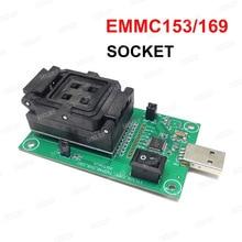 EMMC153/169 اختبار المقبس USB قارئ IC حجم 11.5x13 ملليمتر NAND فلاش اختبار لاستعادة البيانات