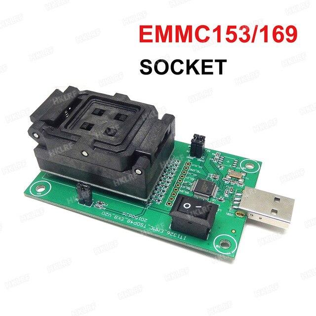 EMMC153/169 gniazdo testowe USB czytnik IC rozmiar 11.5x13mm nand flash Test do odzyskiwania danych