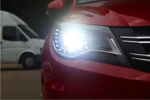 Image 5 - Car Styling for Tiguan Headlight 2009~2012/2013~2015 Tiguan LED Head light LED DRL Bi Xenon Lens Headlight High Low Beam Parking