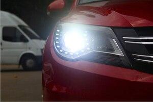 Image 5 - Автомобильный Стайлинг для Tiguan, фасветильник головного света 2009 ~ 2012/2013 ~ 2015 Tiguan светодиодный светильник фасветодиодный, ДХО, биксеноновые линзы, фасветильник дальнего и ближнего света для парковки