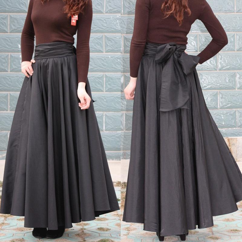 autumn skirts womens plus size 7xl cotton black solid