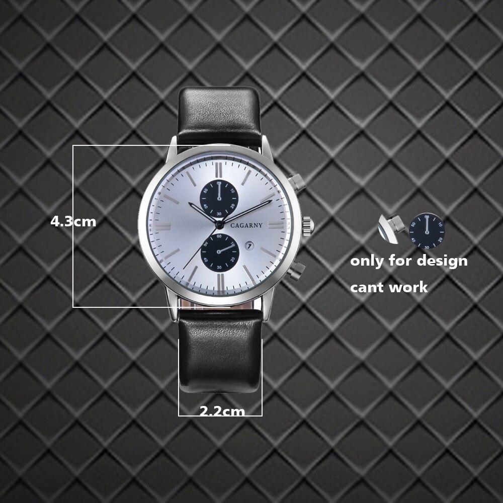 2018 Luxury Brand cagarny Men Sports Watches Men's Quartz Date Clock Man Casual Leather Fashion Wrist Watch Relogio Masculino 2019 drop shipping (1)