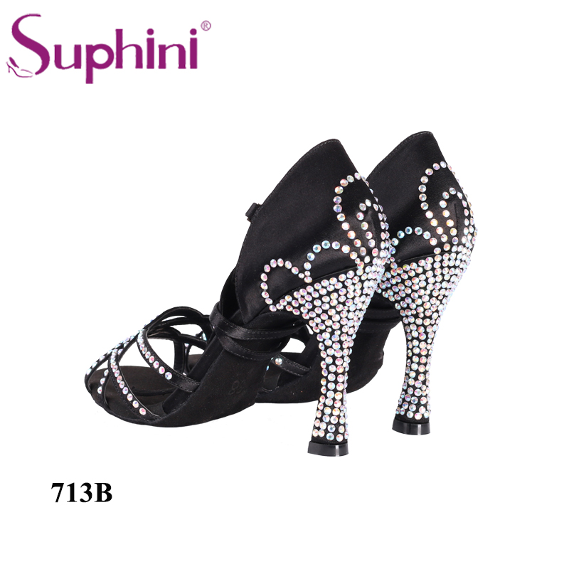 FREE SHIPPING Beautiful Latin Shoes Woman Dance Shoes New Designed Latin Suphini Latin Dance Shoes Crystal Dance Shoes цена 2017