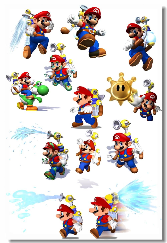 Пользовательские холст на стены Купа Troopa плакат Super Mario Bros стены Стикеры росписи живые обои детская комната украшения #0506 #