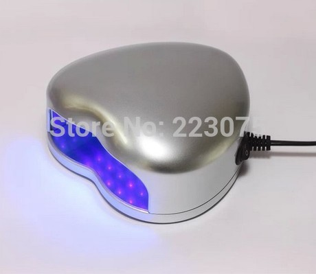 New 110v or 220v LED Lamp Soak-off Gel Polish Nail Cure UV Dryer Heart-shaped 3W Manicure Machine silver брюки accelerate tight