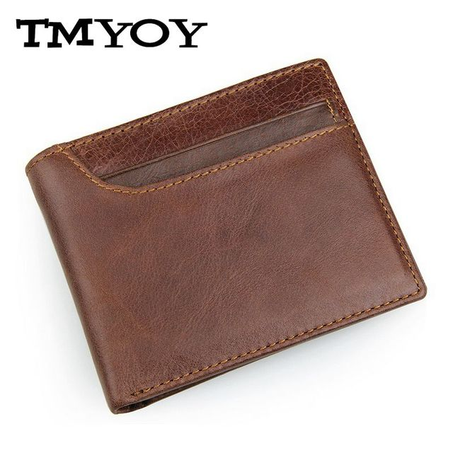 JMD 2017 quality Brand Men Genuine Leather Wallets small Men's Purse short Card Holder Coin male cowhide Purse RFID wallet VK277