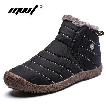 MVVT Plus Size Men Winter boots Unisex Q...