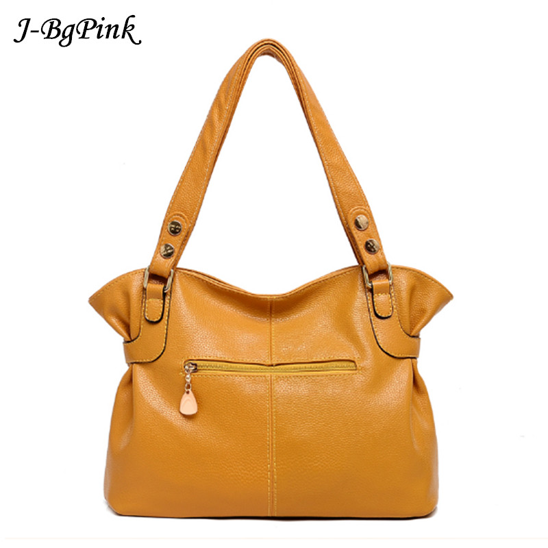 173bfdf611 где купить 2018 Woman yellow bag Handbag Large Cowhide Handbag Big Tote  Women s Messenger Bags Shoulder