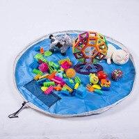 Portátil Crianças dos miúdos Do Bebê Jogar Mat Grande Bloco Brinquedos Boneca Coisas Saco De Armazenamento Multi-funcional Tapetes Tapete para Lego brinquedos