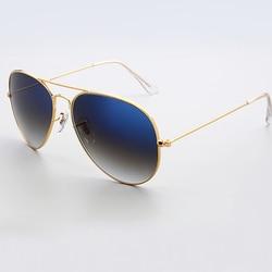 QC3001-QC3009 NEW 2018 hot Glass lens Pilot Sunglasses female male aviator classic glasses mirror Gold black