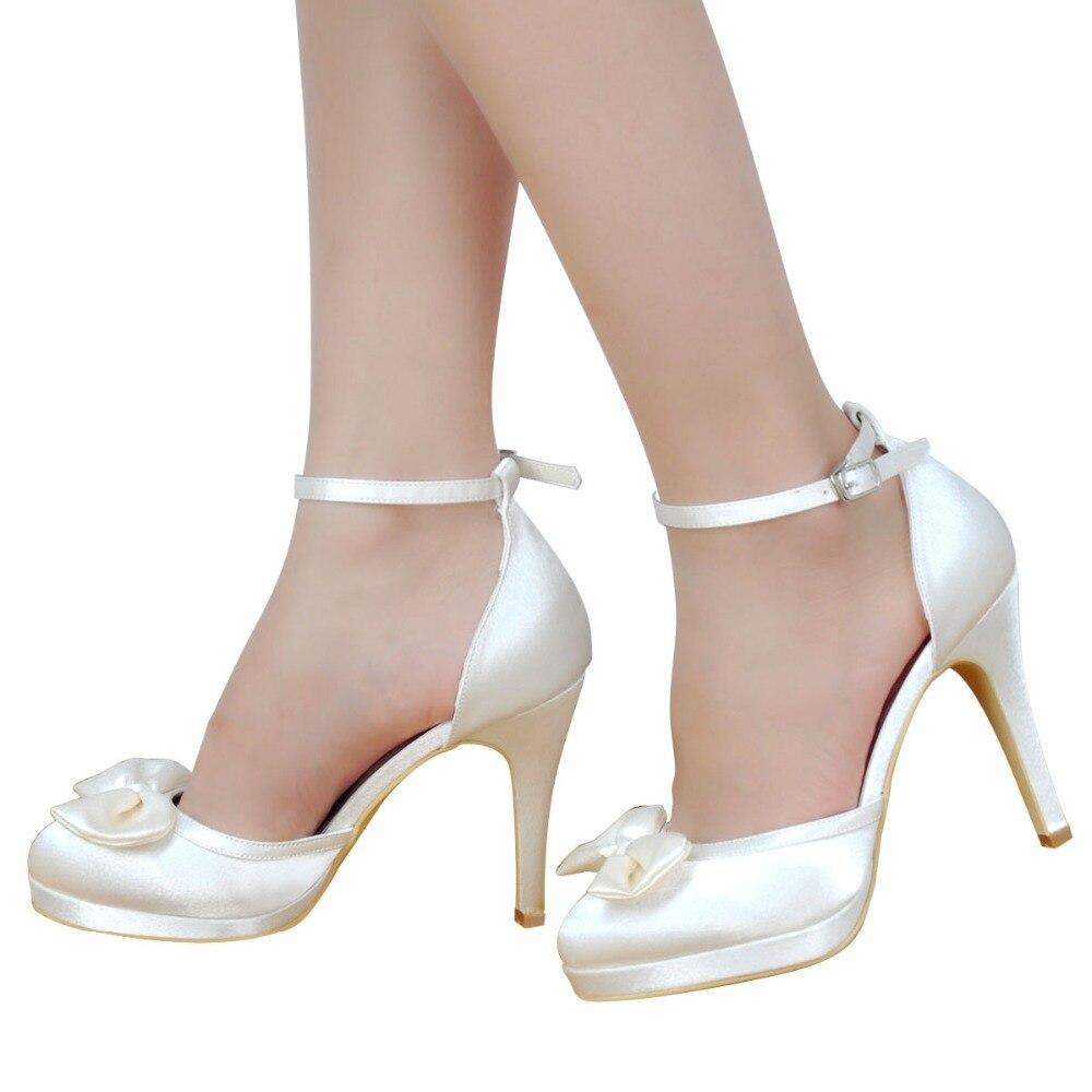 Këpucë grash Dasma Nusja e Bardhë e Fildishtë me Platformë me - Këpucë për femra - Foto 2