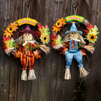 Halloween Decoration Props 10 Styles Witch Pumpkin Ghosts Resin Straw Hanging Dolls Home Garden Decorated Cloth