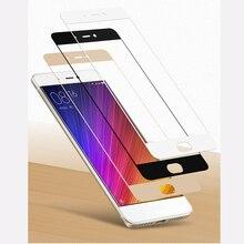 9 H Colorful Полное Покрытие Тела Закаленное Стекло для Xiaomi Mi5S для Xiaomi Mi 5S Plus Screen Protector Закаленное Стекло Крышки случае