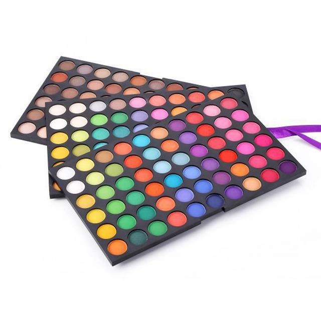 Maquillaje profesional 180 Full Color Paleta Sombra de ojos Metálico Mate Sombra de Ojos Natural Cosmética Set de Maquillaje