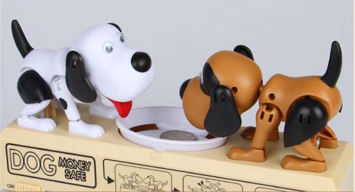 2ac87780cc9 Envío Directo cachorro doble hambre comer perros hucha regalo para niños  caja de ahorro de dinero Moneybox en Dinero y banca Juguetes de Juguetes y  ...
