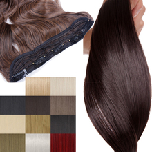 S-noilite 30 inches Long Straight Hairpiece 5 Clip in Hair Synthetic Ha