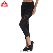 SYPREM Sports pants Warp knitting mesh yoga Breathable Highly elastic Quick dry running tights fitness leggings ,1FP0030