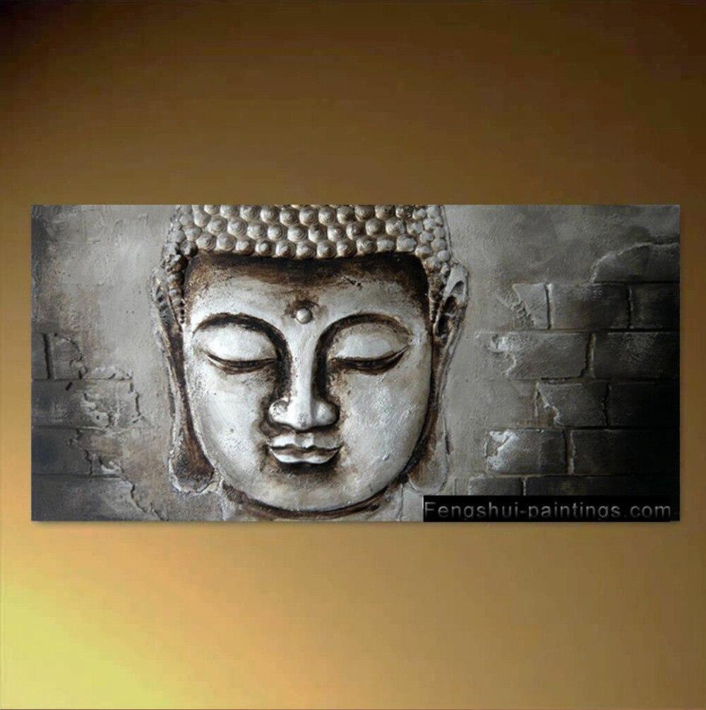 Zen Buddha Su Tela di Arte Della Parete Moderna Pittura Astratta Contemporanea Dipinto A Mano libero di trasporto