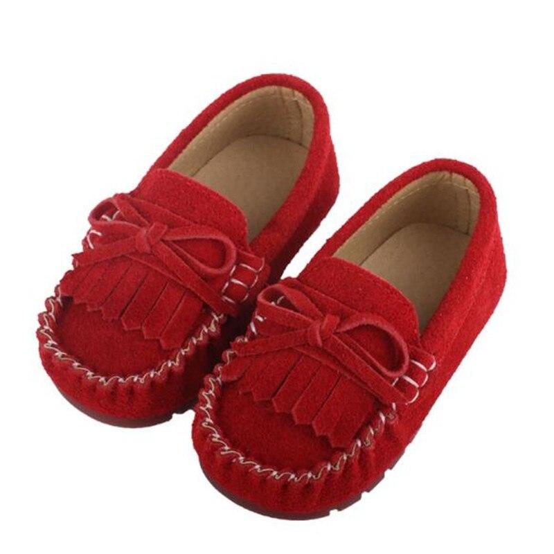 Ernst Neue Frühling/herbst Kinder Bowknot Schuhe Baby Prinzessin Echtem Leder Wohnungen Mädchen Schuhe Kleinkind Kinder Leder Schuhe Müßiggänger 02b Neueste Mode
