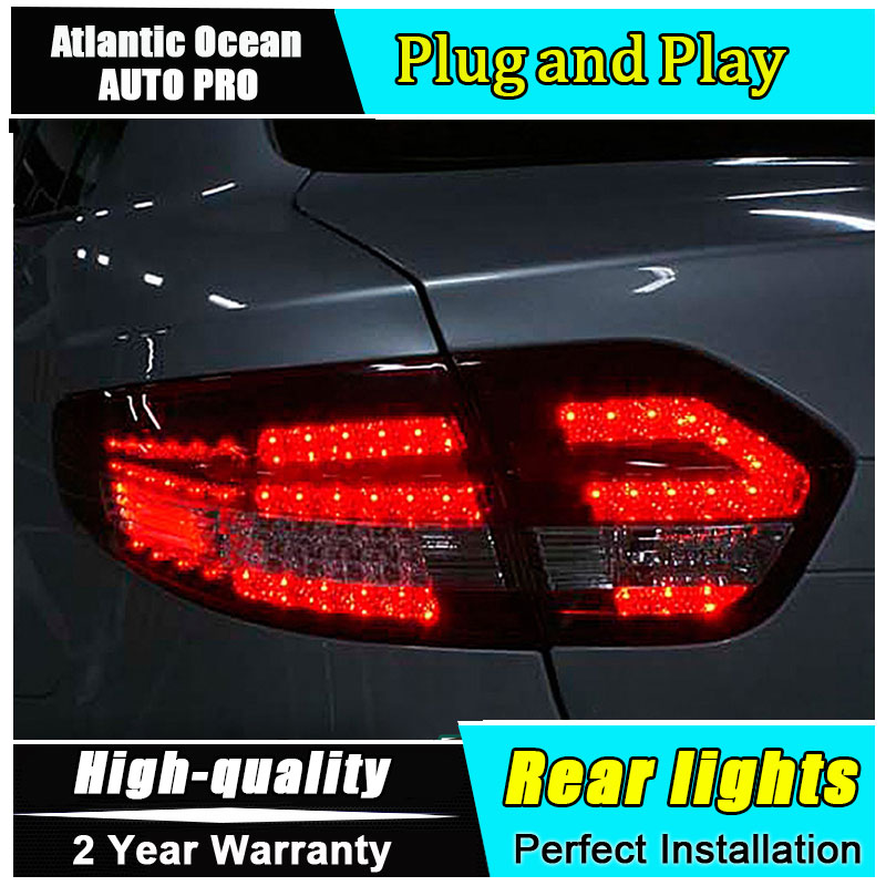 A&T Car Styling for Renault Fluence LED Taillights 2010-2014 Almera SM3 Tail Lamp Rear Lamp DRL+Brake+Park+Signal led lights купить в Москве 2019