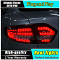 A&T Car Styling for Renault Fluence LED Taillights 2010-2014 Almera SM3 Tail Lamp Rear Lamp DRL+Brake+Park+Signal led lights