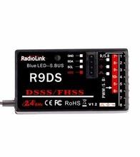 D'origine RadioLink R9DS 2.4G 9CH DSSS Récepteur Pour RadioLink AT9 AT10 Émetteur RC Hélicoptère Multirotor Support S-BUS
