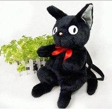 Принцесса сладкий лолита сумка HARAJUKU стиль сумка черная кошка рюкзак милый мультфильм мягкие плюшевые сумка для молодых девушек