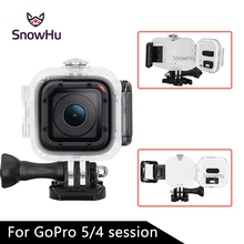 цена на Transparent Underwater Waterproof Protective Housing Case For Gopro Hero 4 Session Camera Diving Snorkeling Bags for Go proGP320