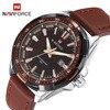 NAVIFORCE 9056 Men Leather Band Quartz Watch 30M Water Resistant Luminous