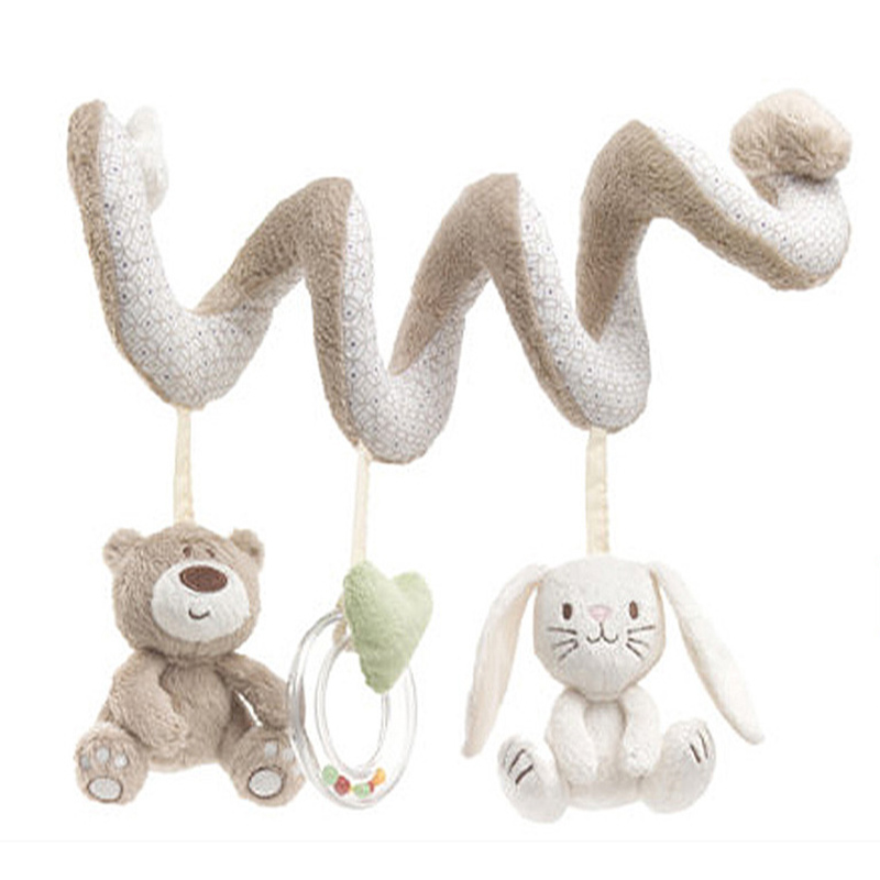 Игрушки для маленьких детей подвижная развивающая музыкальная игрушка новорожденных плюшевые погремушки игры на кроватку висит колокол Игрушечные лошадки для детей-byc148 pt49