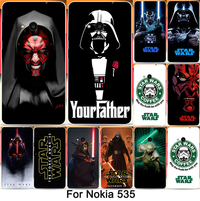 Super Hot Star Wars Coffee Design PC Hard shell printing case  For Microsoft Nokia Lumia 535 N535 Phone Case Cover Shell Capa